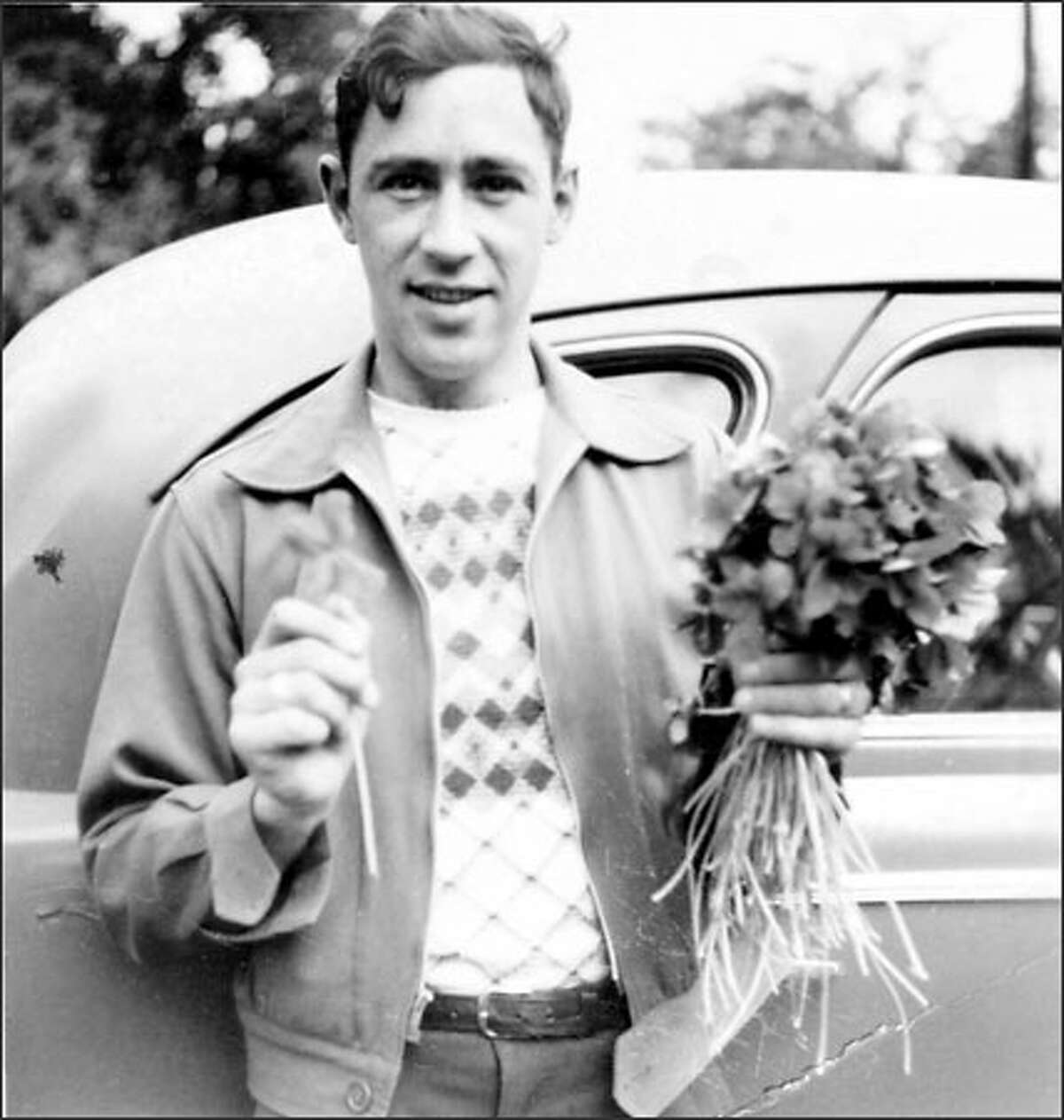 To Zumbuhl (shown here at 16 in 1939), collecting multi-leaf clovers led him to a lifelong hobby he still enjoys.