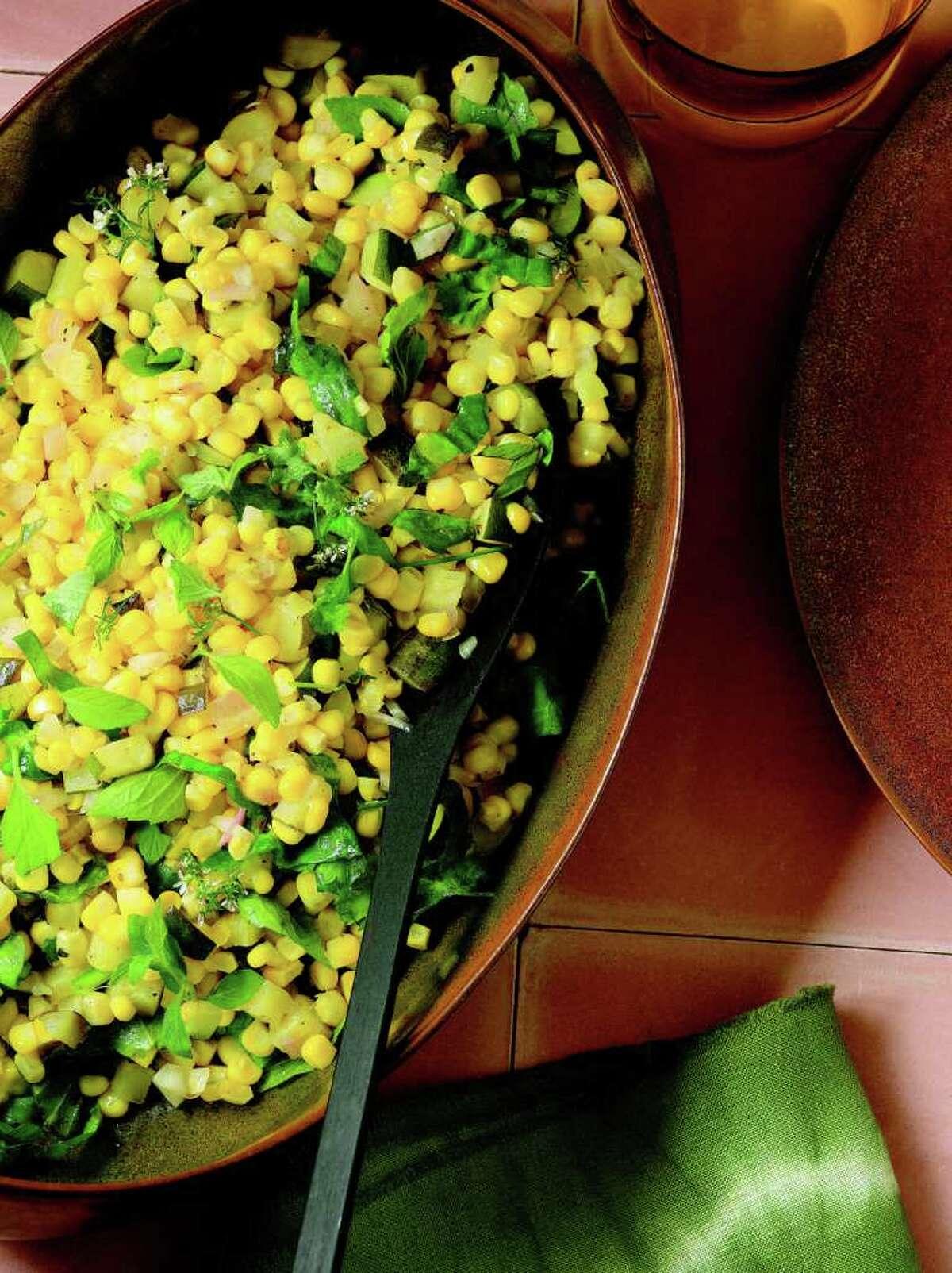 The recipe for Corn and Zucchini Salad is included in Eva Longoria's new cookbook,