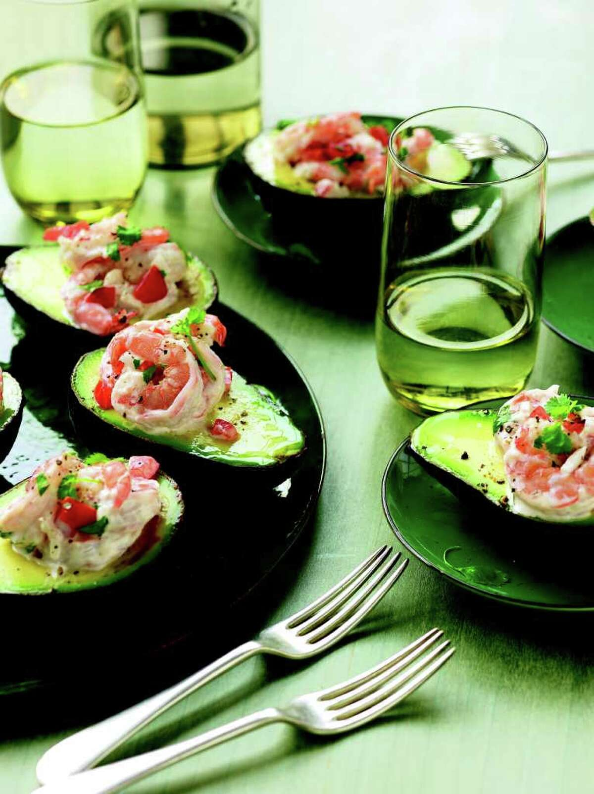 Longoria, who co-owns two Beso restaurants, also included the recipe for Avocado Stuffed with Shrimp