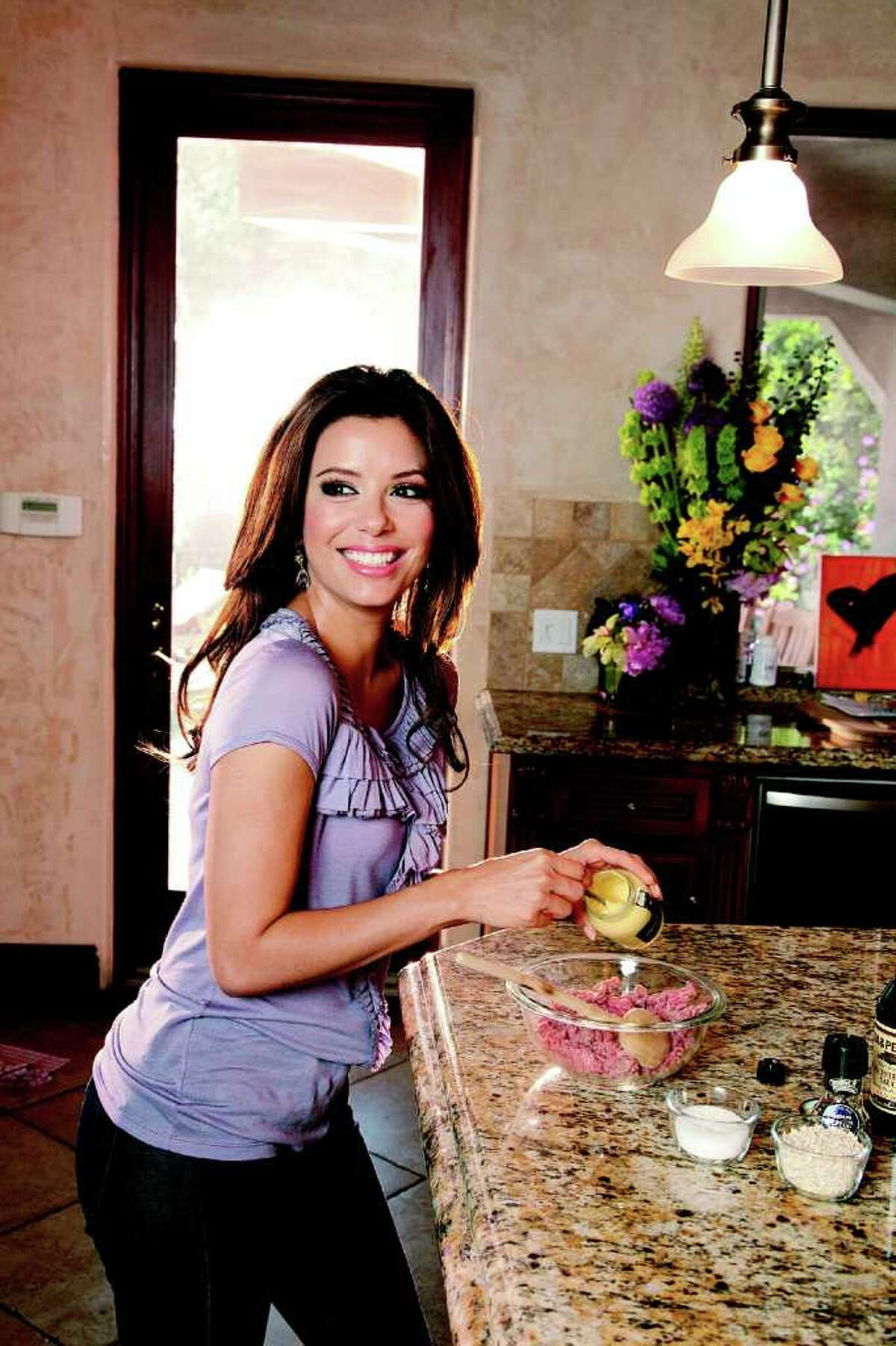 Cooking is a favorite pastime for actress Eva Longoria.
