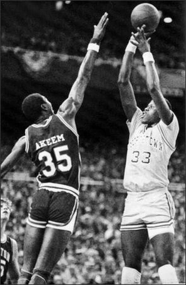 Patrick Ewing led Georgetown past Akeem Olajuwon's Houston Cougars in the 1984 NCAA title game at the Kingdome and was named the Final Four's Most Outstanding Player. Photo: Associated Press / Associated Press