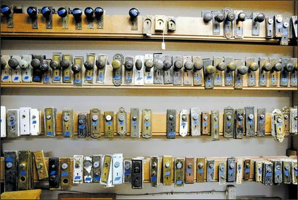 You can find vintage treasures, such as door hardware at Earthwise Building Salvage.