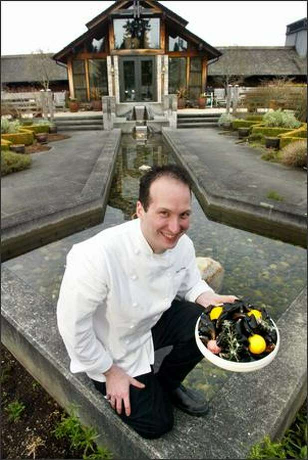 Chef and general manager at The Inn at Langley, Matt Costello emphasizes Whidbey Island agriculture in his menu, including locally harvested mussels. Photo: Karen Ducey, Seattle Post-Intelligencer / Seattle Post-Intelligencer