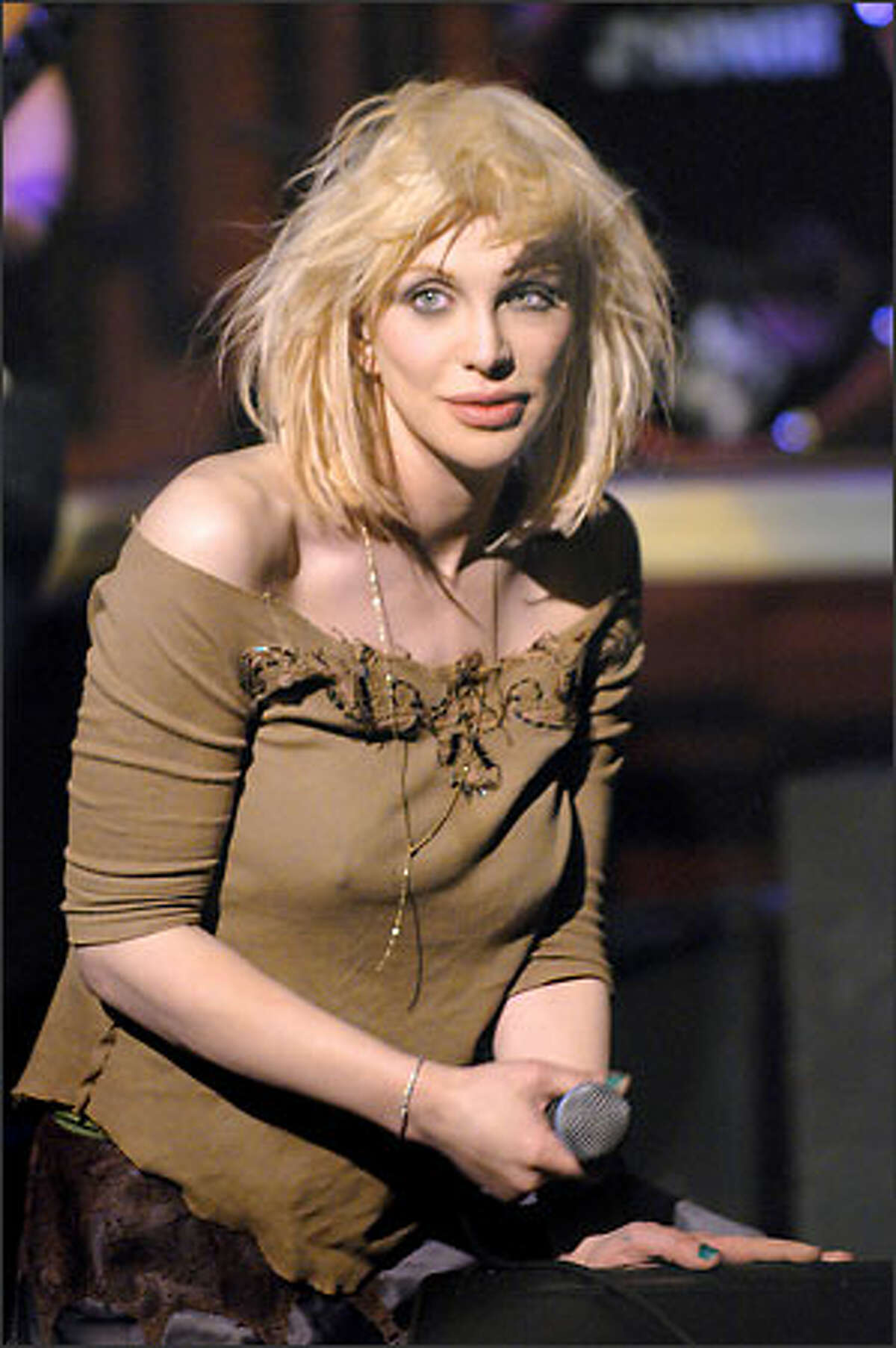 """Courtney Love on """"Late Night with David Letterman."""""""