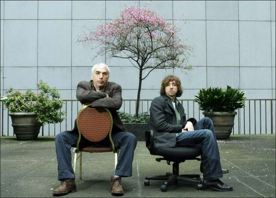 David Sheff, left, and his son, Nic Sheff, in downtown Seattle. Photo: Dan DeLong, Seattle Post-Intelligencer / Seattle Post-Intelligencer