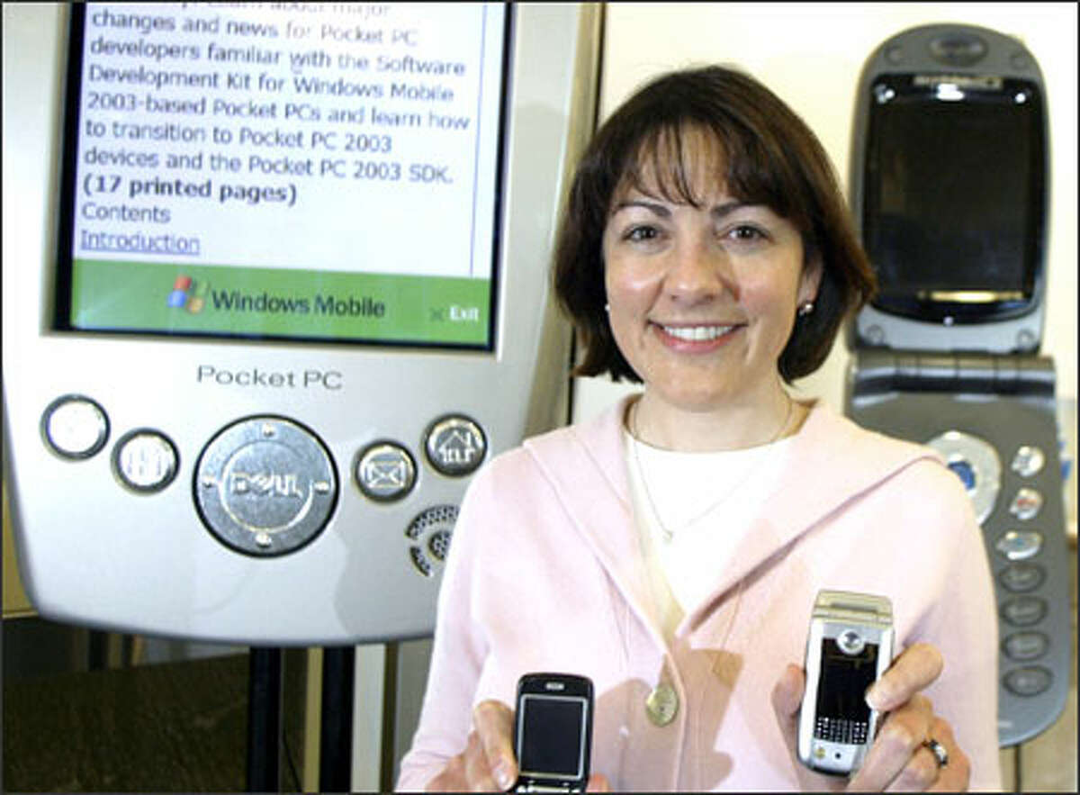 Suzan DelBene is responsible for trying to increase the market share of Microsoft software in mobile phones, pocket PCs and other devices.