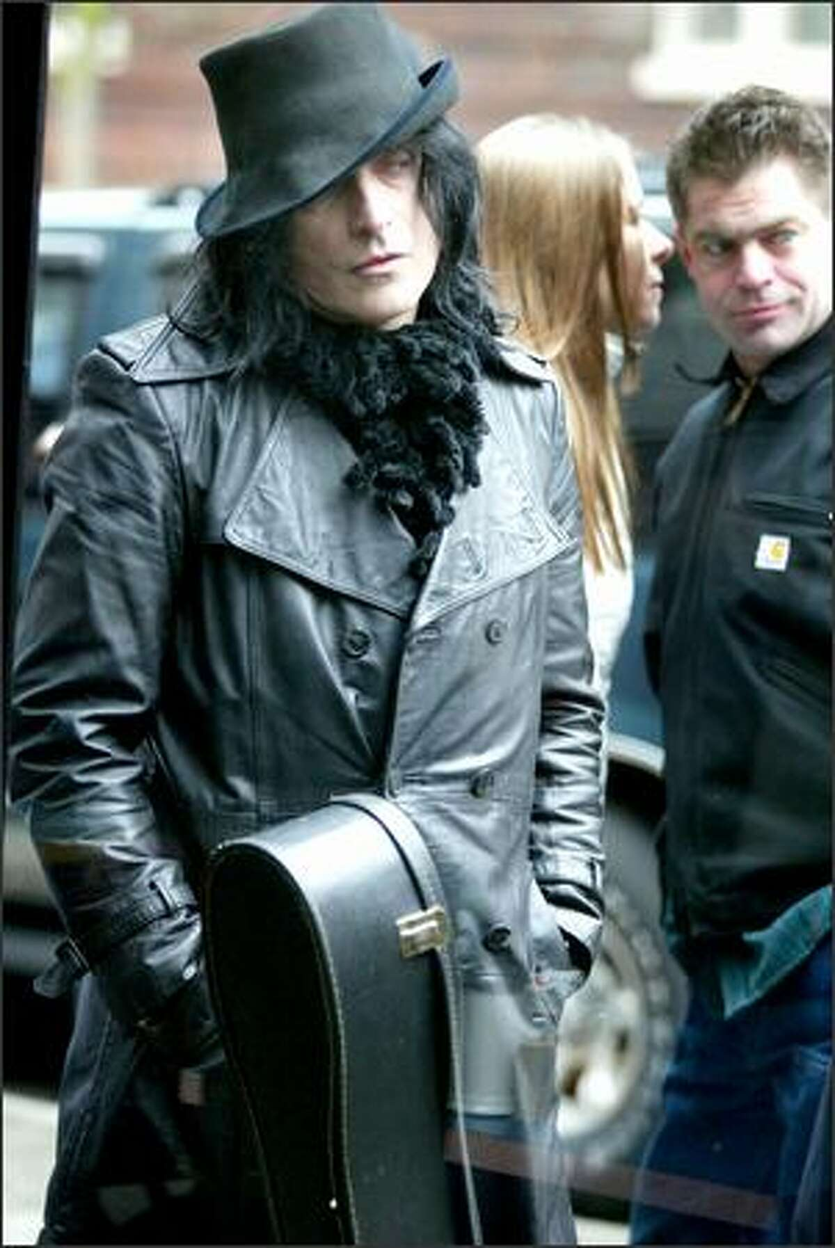 On Saturday, March 18, 2006 Hyde (yes, Hyde), waits his turn outside the Crocodile Cafe to audition for the CBS reality show