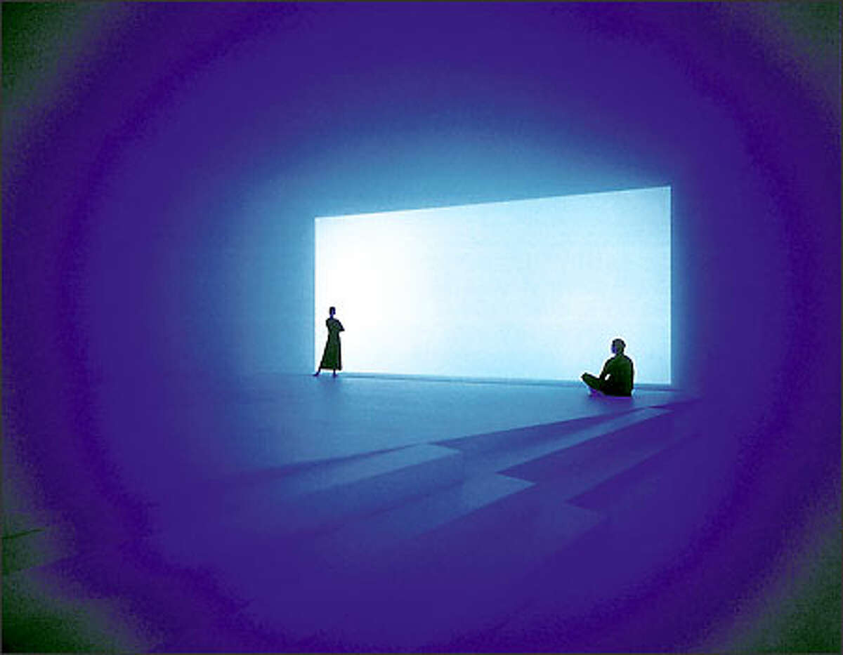 """""""Spread,"""" 2003, is one of the installations on view in """"James Turrell: Knowing Light"""" at the University of Washington's Henry Art Gallery."""