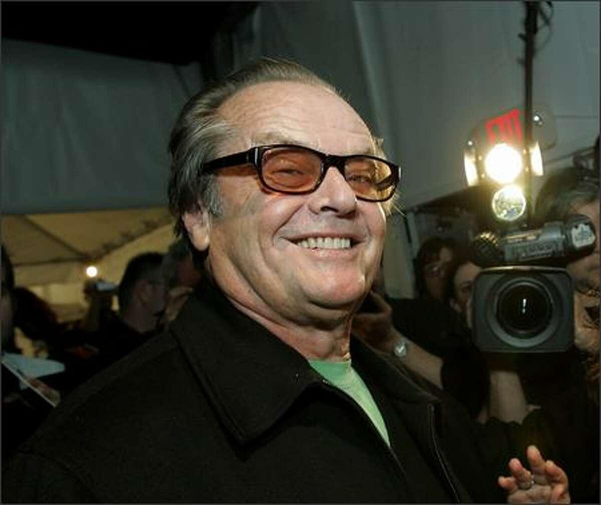 Jack Nicholson walks backstage after his daughter, designer Jennifer Nicholson's Fall 2006 fashion show. (AP Photo/Kevork Djansezian)