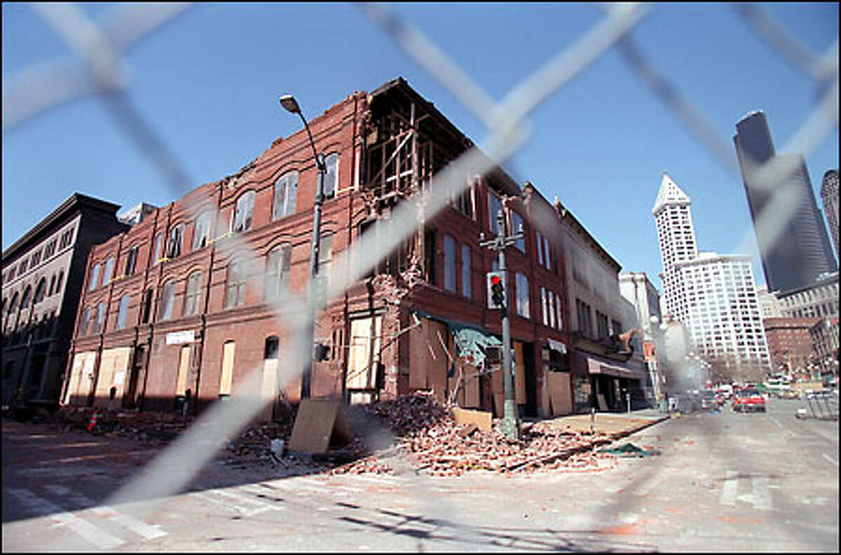 The 111-year-old Cadillac Hotel was heavily damaged in the earthquake Feb. 28, and now is unstable and too dangerous for restoration workers, the building's owners say.