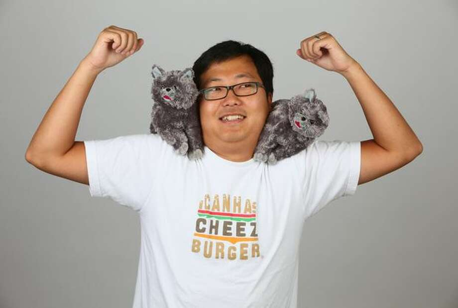 Ben Huh, CEO of the Cheezburger Network, mugs for seattlepi.com in 2009. Photo: Joshua Trujillo, Seattle Post-Intelligencer / Seattle Post-Intelligencer