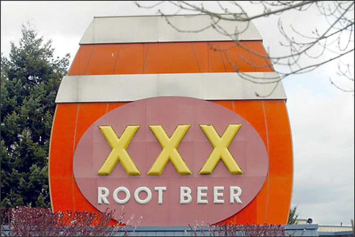 The XXX Root Beer sign in Issaquah.
