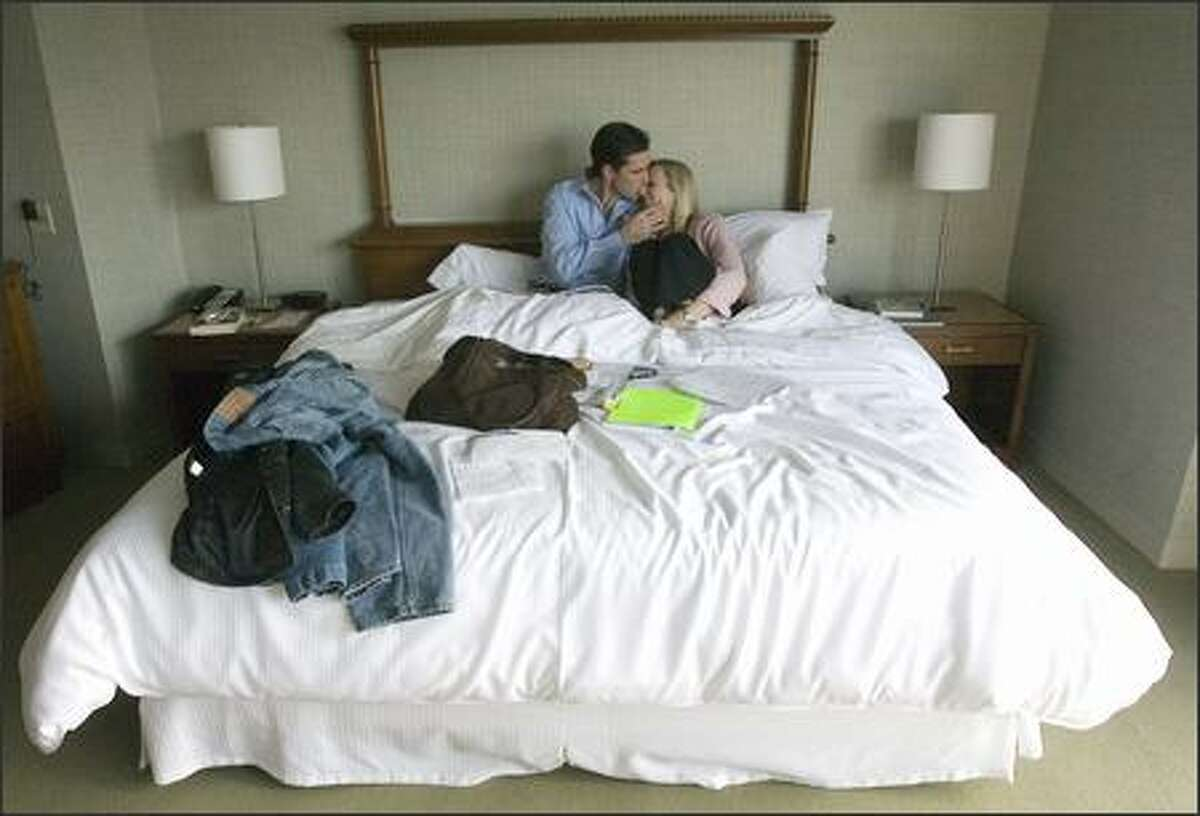 Bob and Lee Woodruff cozy up at the Westin Hotel while in Seattle recently to promote their best-selling memoir,