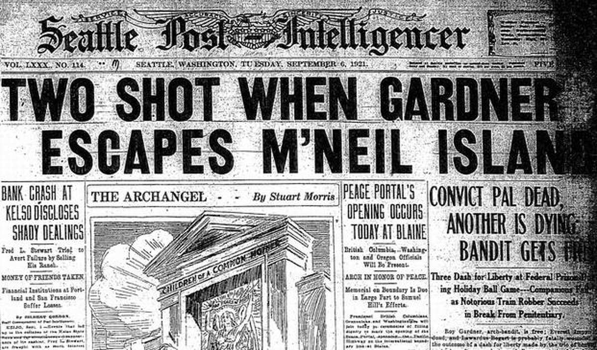 The Sept. 6, 1921 story about the search for Roy Gardner, who escaped from McNeil Island. (seattlepi.com file)