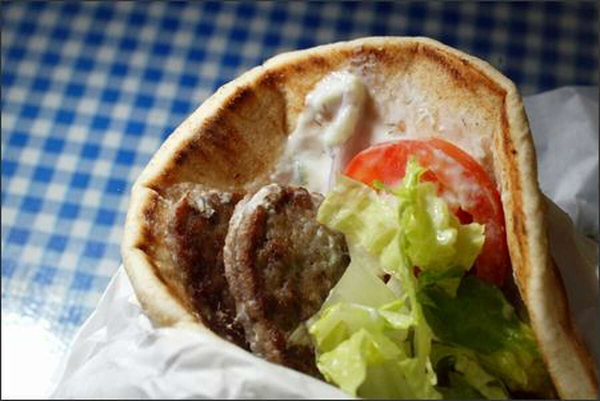 A traditional gyro of beef and lamb from Nikos Gyros in Magnolia.