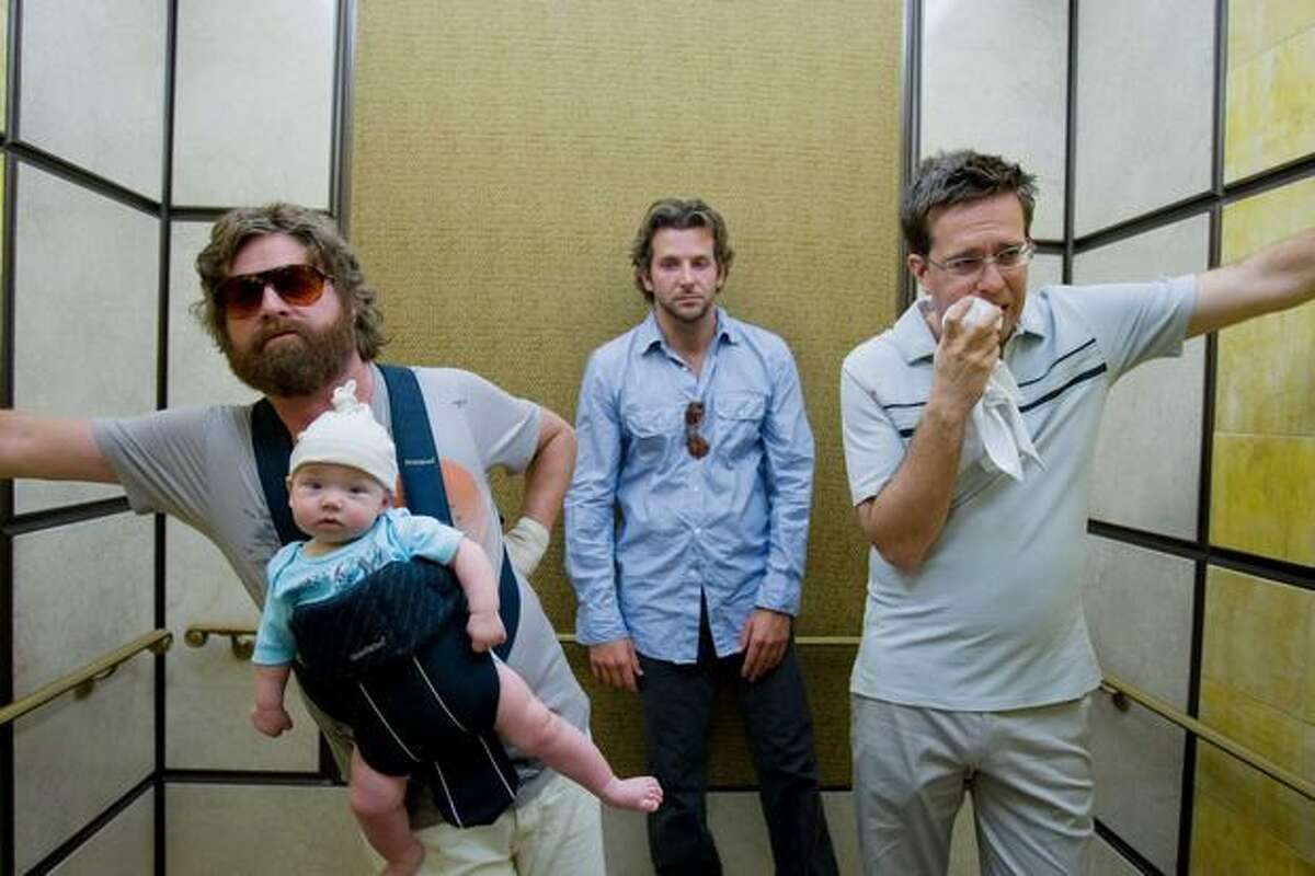 """From left, Zach Galifianakis, Bradley Cooper and Ed Melms atarred in """"The Hangover."""""""