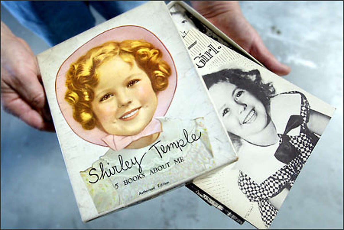 This collection of five small books about Shirley Temple from 1936 is one of about 60 items to be offered at the silent auction during the member's preview.