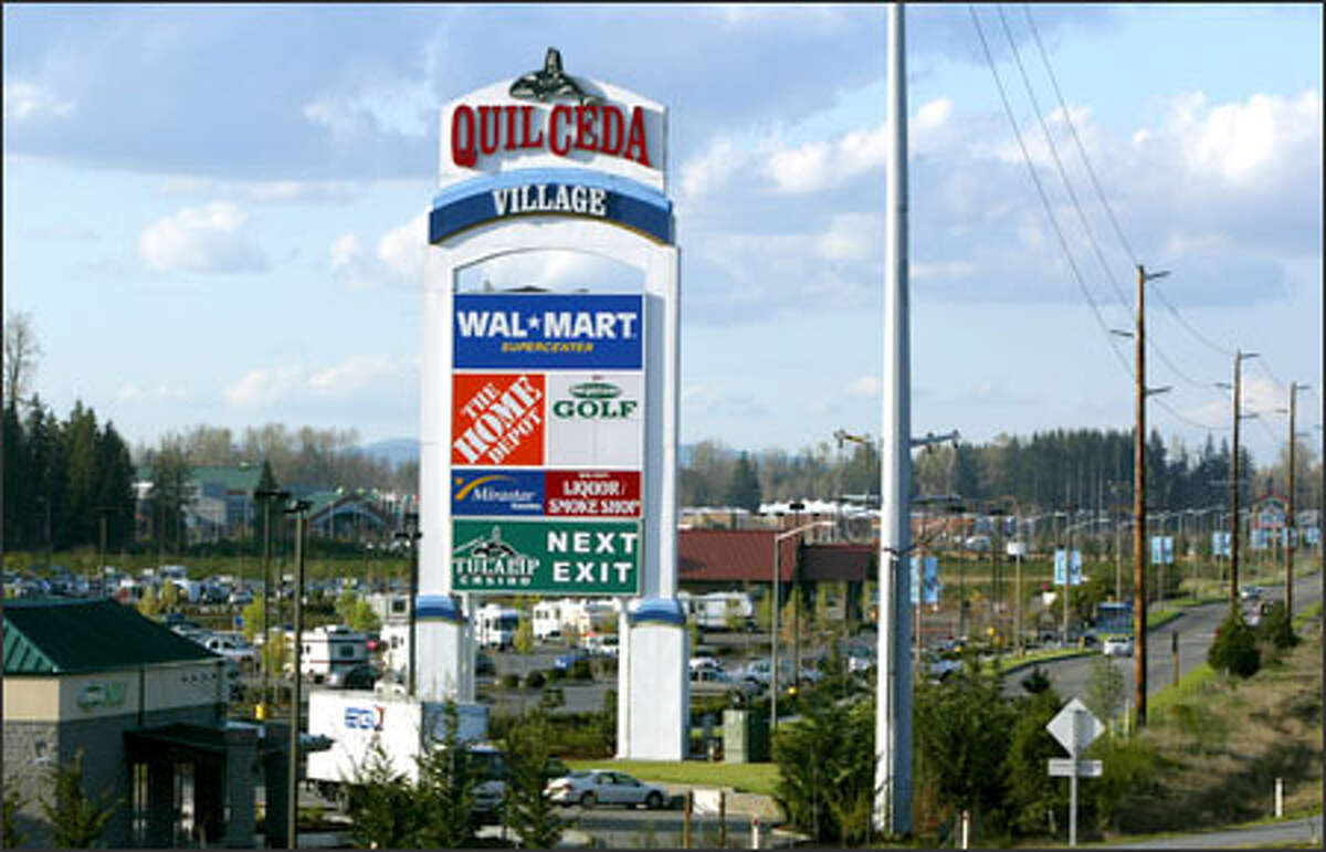 The Tulalip Tribes want to collect a portion of the sales taxes generated at Quil Ceda Village north of Marysville to pay for maintenance and services.