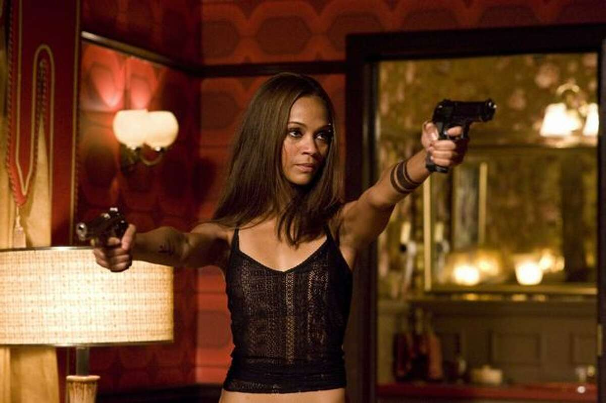 "Zoe Saldana stars as Aisha ""The Losers,"" opening in April."