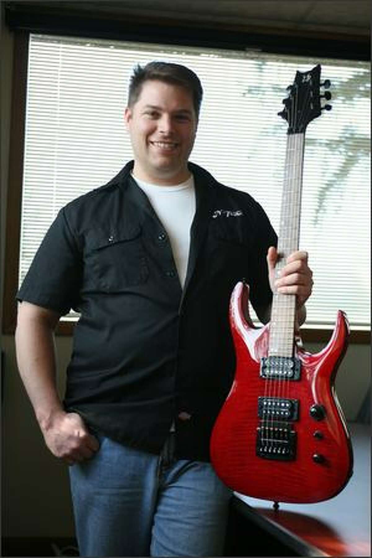 Sam Sudore is president and CEO of Zero Crossing Inc., which makes a tuner that mounts on a guitar.