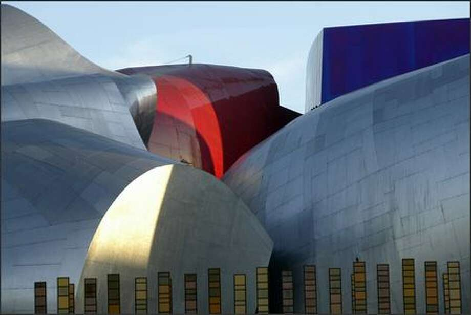 An exterior view of the Experience Music Project at Seattle Center. Photo: Mike Urban, Seattle Post-Intelligencer / Seattle Post-Intelligencer