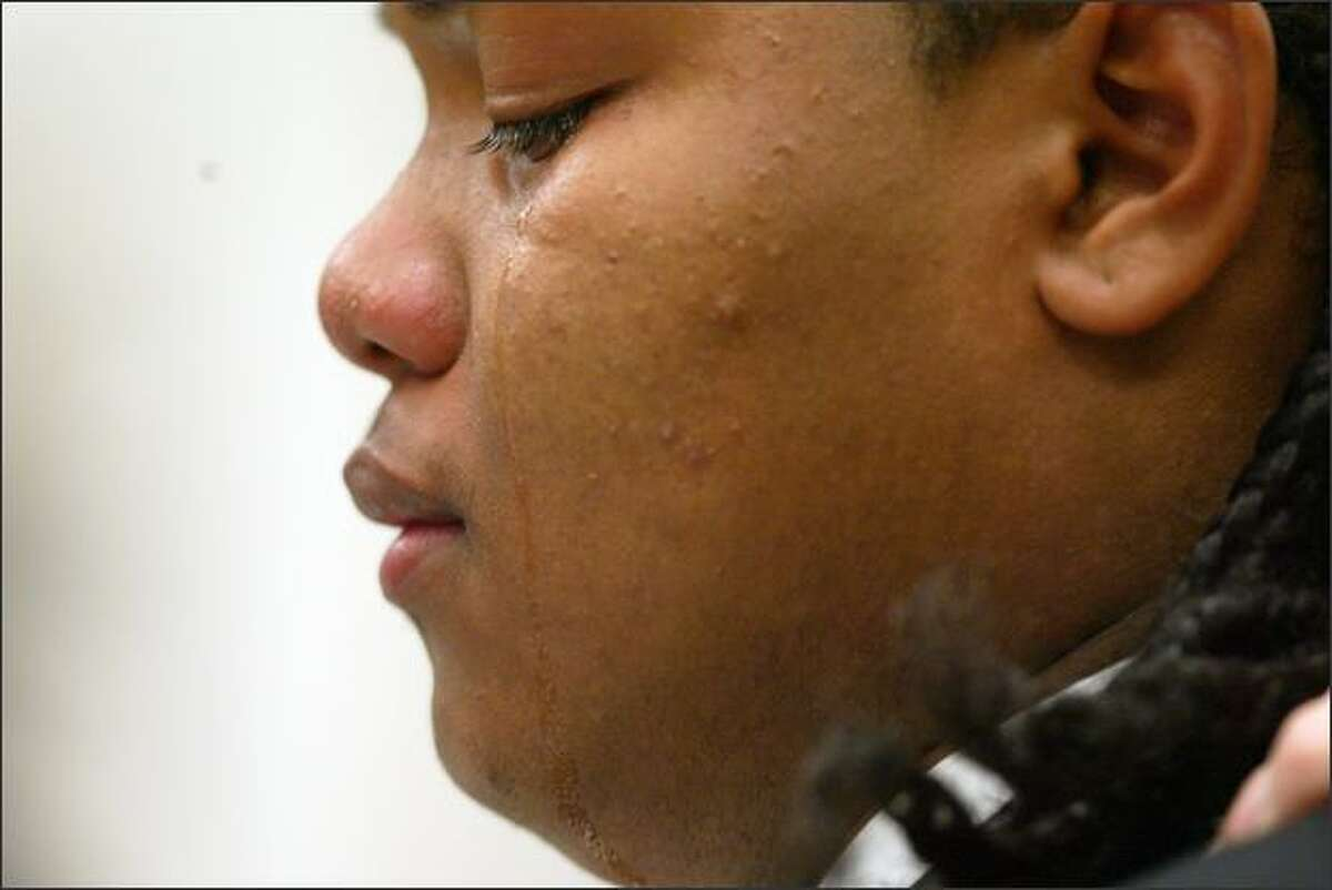 Jordan Tautua-Jantoc, then 16, speaks before Judge Harry McCarthy in a King County courtroom on Sept. 14, 2007.