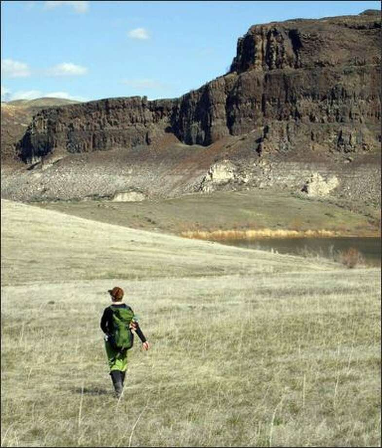 The open country near Ancient Lakes in Eastern Washington made for a perfect early spring escape from Seattle. Photo: Karen Sykes, Special To The Post-Intelligencer / Special to the Post-Intelligencer