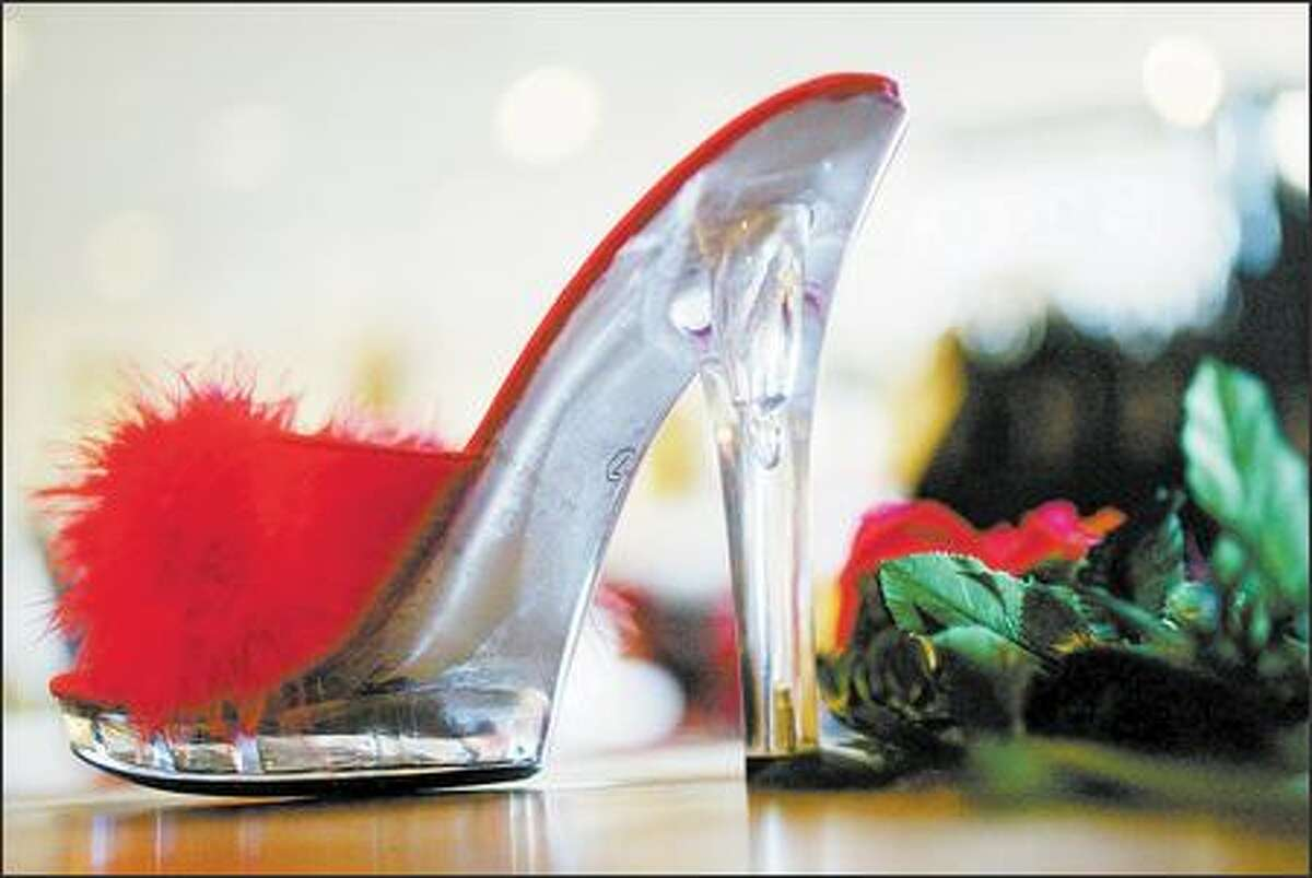 Peekay Inc. sells dozens of styles of sexy shoes and boots, such as this high-heeled slipper. Peekay's customers are mostly female, between the ages of 18 and 35.