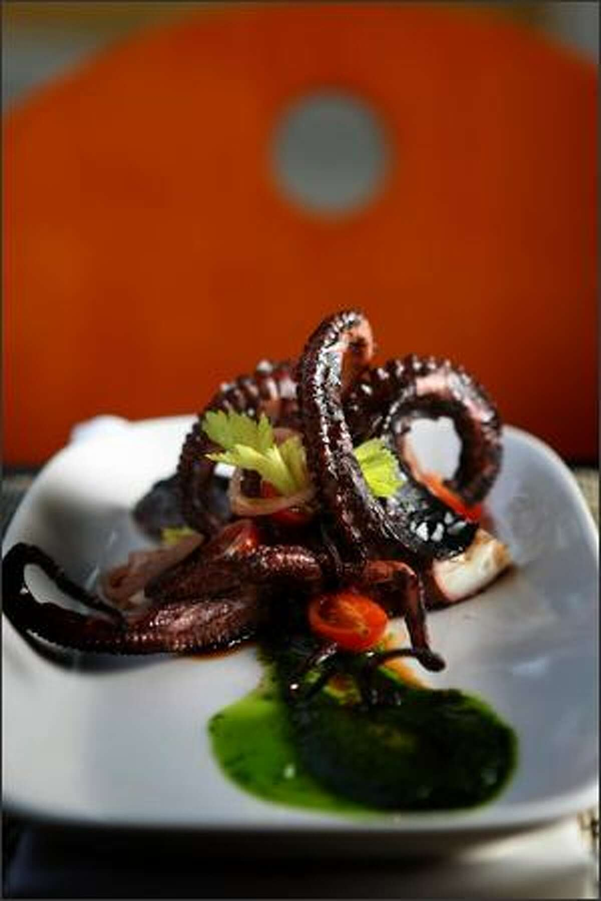 Joule's grilled octopus is deliciously tender and served with Chinese celery pistou. Since the restaurant opened last fall, its chefs have made its avant-garde menu more approachable without sacrificing their sense of culinary adventure.
