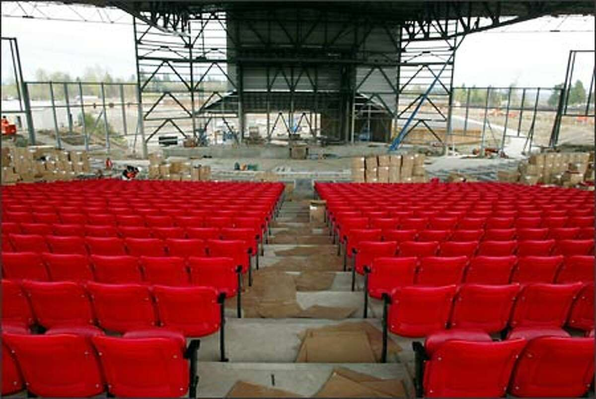 The White River Amphitheatre's acoustically treated metal roof covers 8,500 seats and allows the season to be extended beyond what's normally offered by outdoor venues.