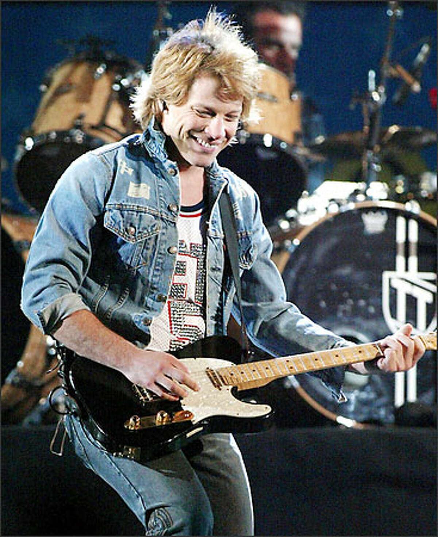 Though he's 40, Jon Bon Jovi still cuts a figure as the all-American boy.