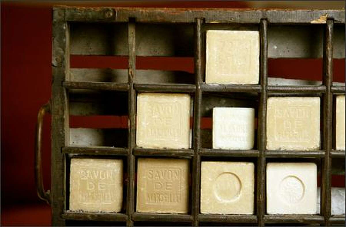 French soap, such as this Marseille soap, is among the products sold by The Frenchy Bee.