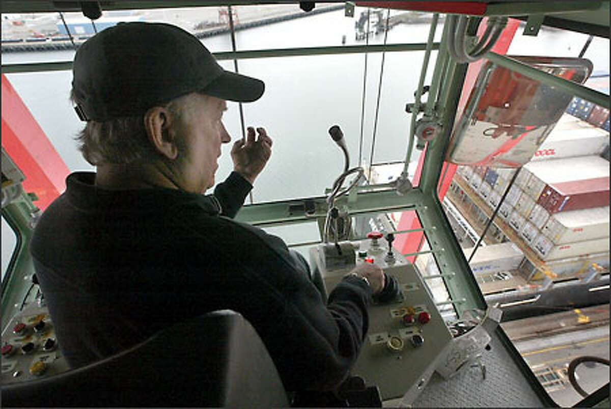 Bob McDonald has been a crane operator at the Port of Seattle for 36 years. The job requires