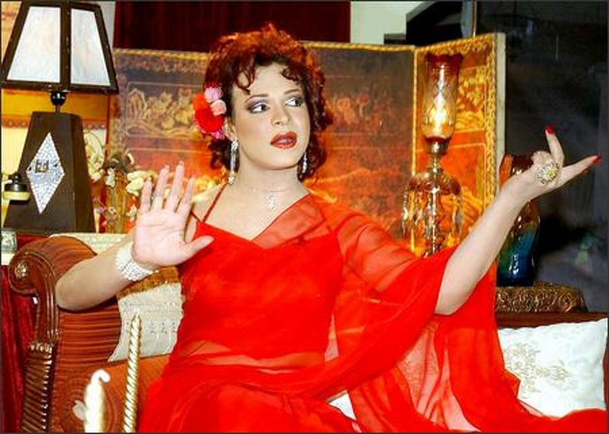 Pakistan's most famous female TV persona is transvestite Ali Salim, host of TV talk show