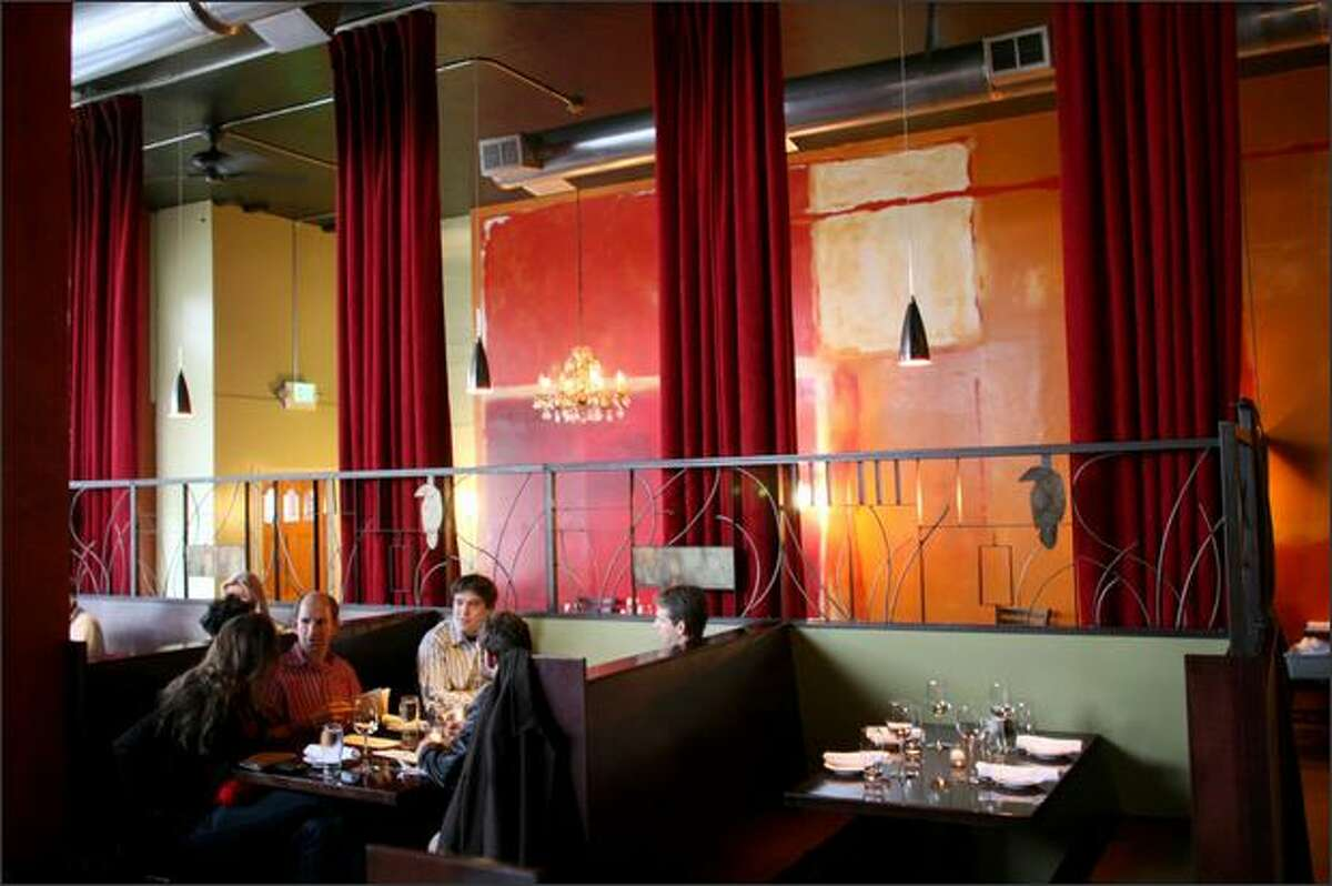The atmosphere of Crow's cavernous room is ever changing, ebbing and flowing with events at nearby Seattle Center. Some nights it might seem almost sedate. Reservations are strongly recommended.