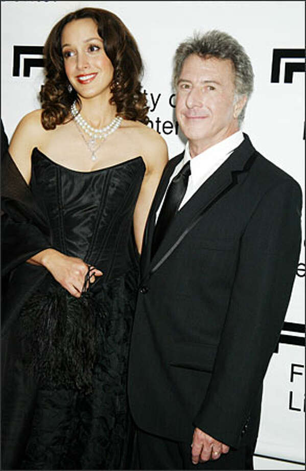 "Jennifer Beals and Dustin Hoffman attended the annual gala of the Film Society of Lincoln Center this week. Hoffman was honored for a body of work that includes ""Midnight Cowboy,"" ""The Graduate,"" ""Papillon,"" ""All the President's Men,"" ""Rain Man,"" ""Tootsie"" and ""Hook."" (DIANE BONDAREFF/AP) Photo: Associated Press / Associated Press"