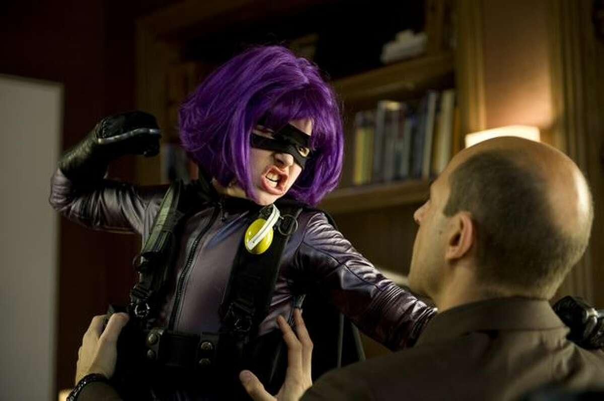"""Chloë Grace Moretz stars as """"Hit Girl"""" in """"Kick-Ass."""""""