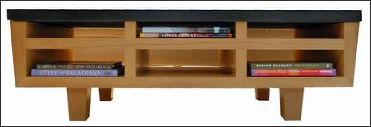 """Boerner's """"Book Table"""" solves a storage problem."""