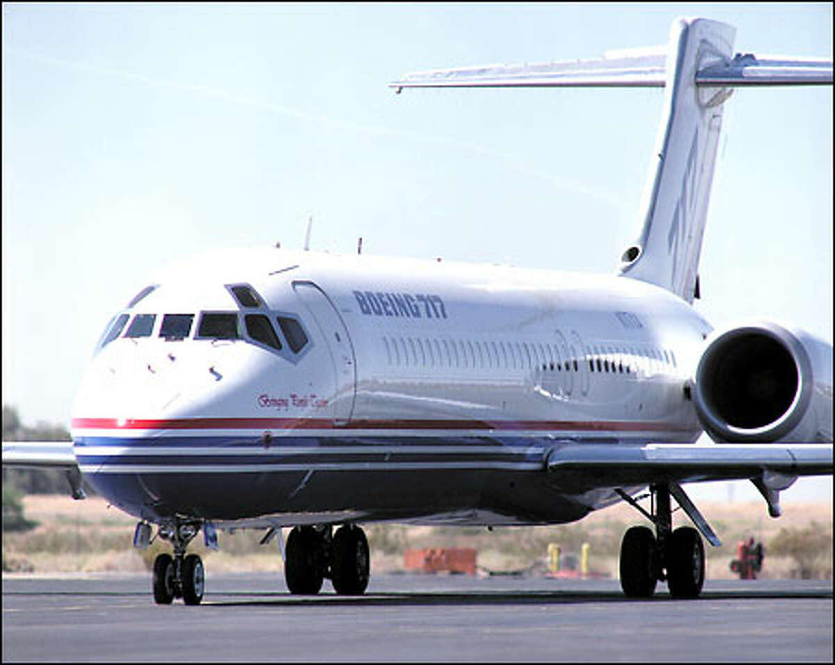 This photo of a Boeing 717 shows the so-called