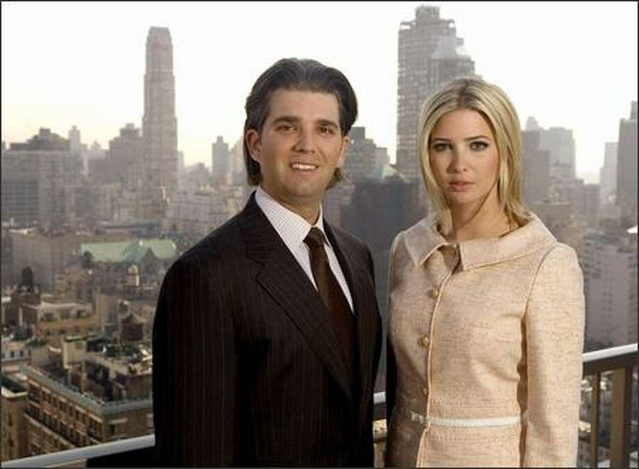 Donald Trump Jr., decries those who criticize his father's name on new 63-story Vancouver, B.C., hotel. Ivanka Trump has designed a spa to go with what is advertised as the most luxurious hotel and apartment tower. Both work for their father. Photo: Associated Press / Associated Press