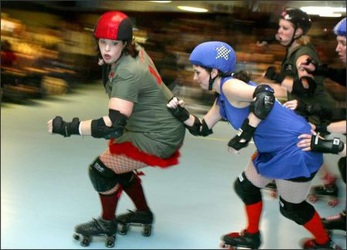 The Derby Liberation Front and the Sockit Wenches mix it up at the now-closed Southgate Skate Center in White Center. The closure has saddened many.