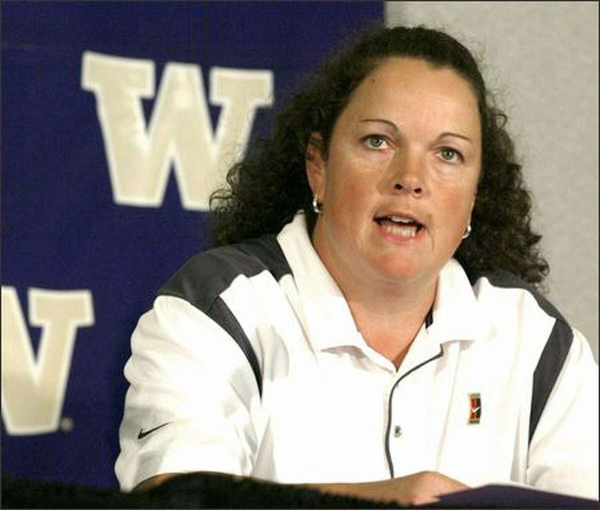 Former University of Washington softball coach Teresa Wilson is seen in this file photo from October 2003.