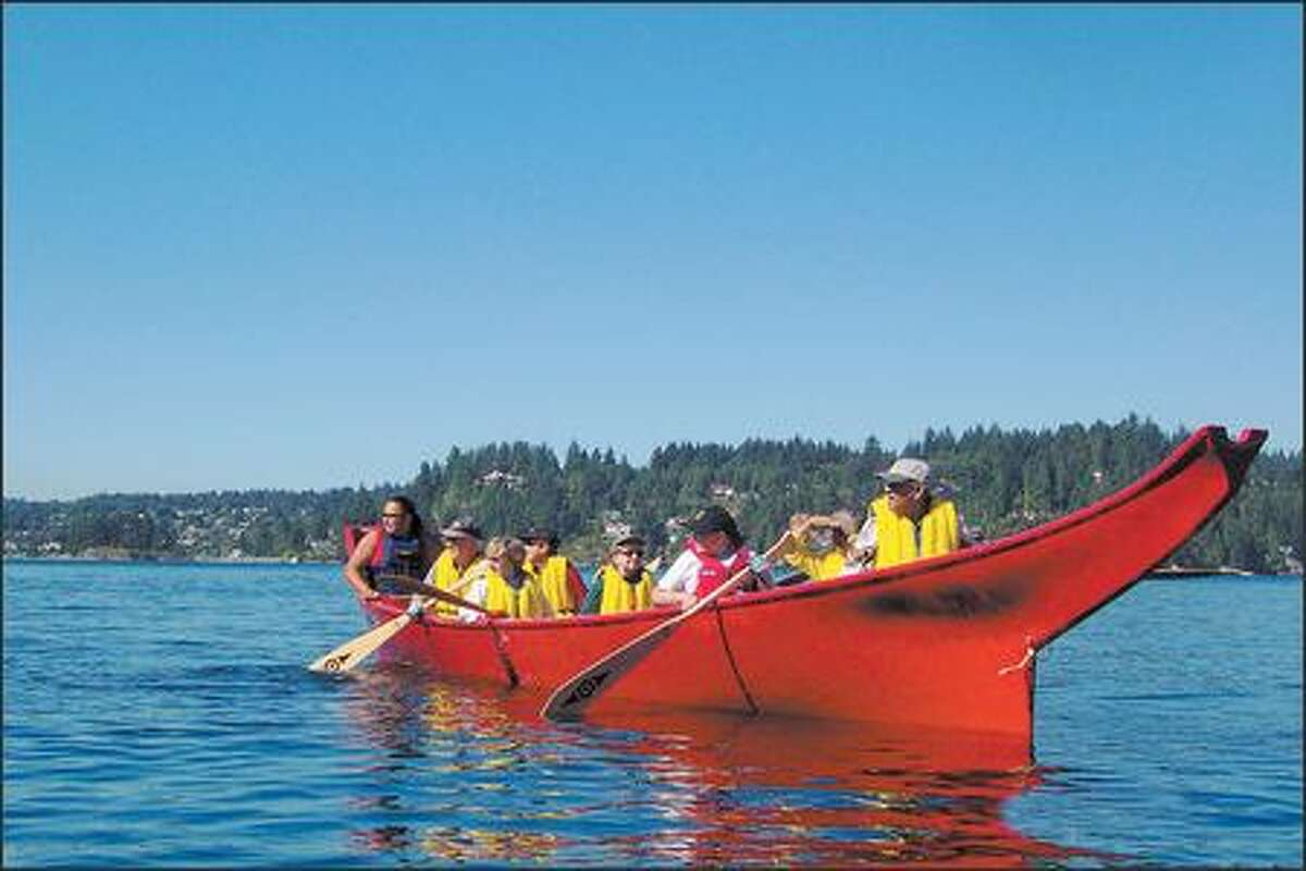 Paddle a replica of a traditional Salish canoe through the scenic waters of Burrard Inlet and Indian Arm with the First Nations-operated Takaya Tours in North Vancouver.