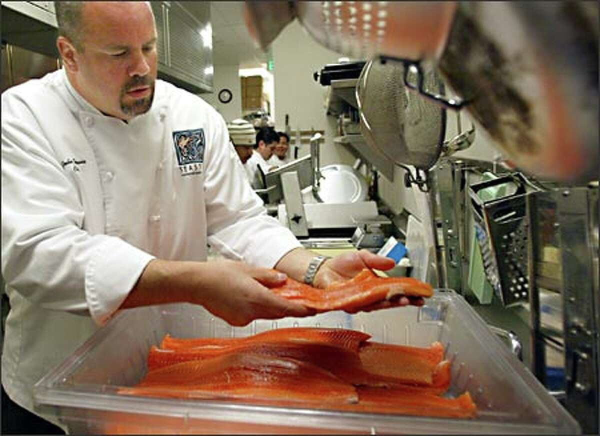 John Howie, chef and owner of Seastar Restaurant in Bellevue, is concerned about the health and sustainability of wild fish runs.