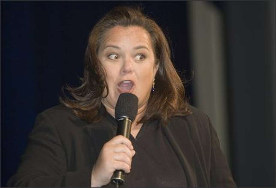 "Rosie O'Donnell, pictured here on Thursday at a children's benefit in New York, is coming back to daytime TV as Meredith Vieira's replacement on the already catty ABC talker ""The View."" Just picturing her and fellow non-shrinking violet Starr Jones Reynolds marking territory is enough to make us say: Meow, salsa for two! Photo: Associated Press / Associated Press"