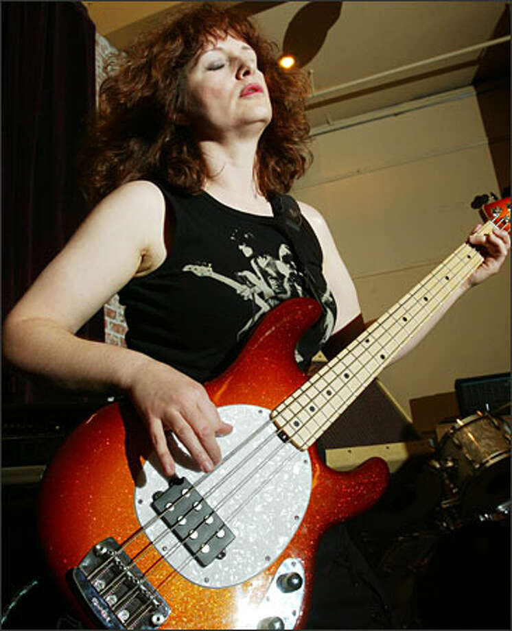 """Bassist Suzanne Sweeney discovered Jett back in the '80s the way most people did: on MTV. """"I love how fierce she is."""" Sweeney says, """"I love her energy."""" Photo: Grant M. Haller, Seattle Post-Intelligencer / Seattle Post-Intelligencer"""
