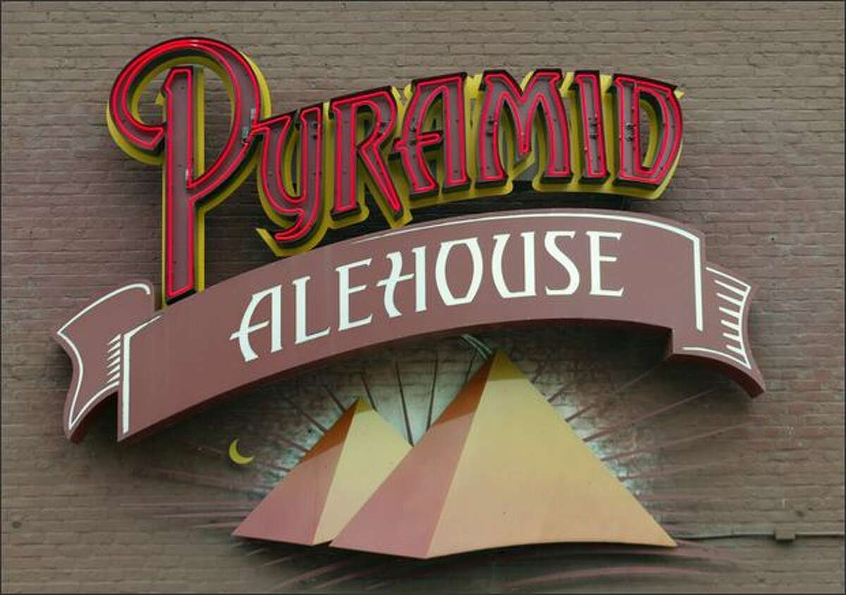 The Pyramid Alehouse sign.