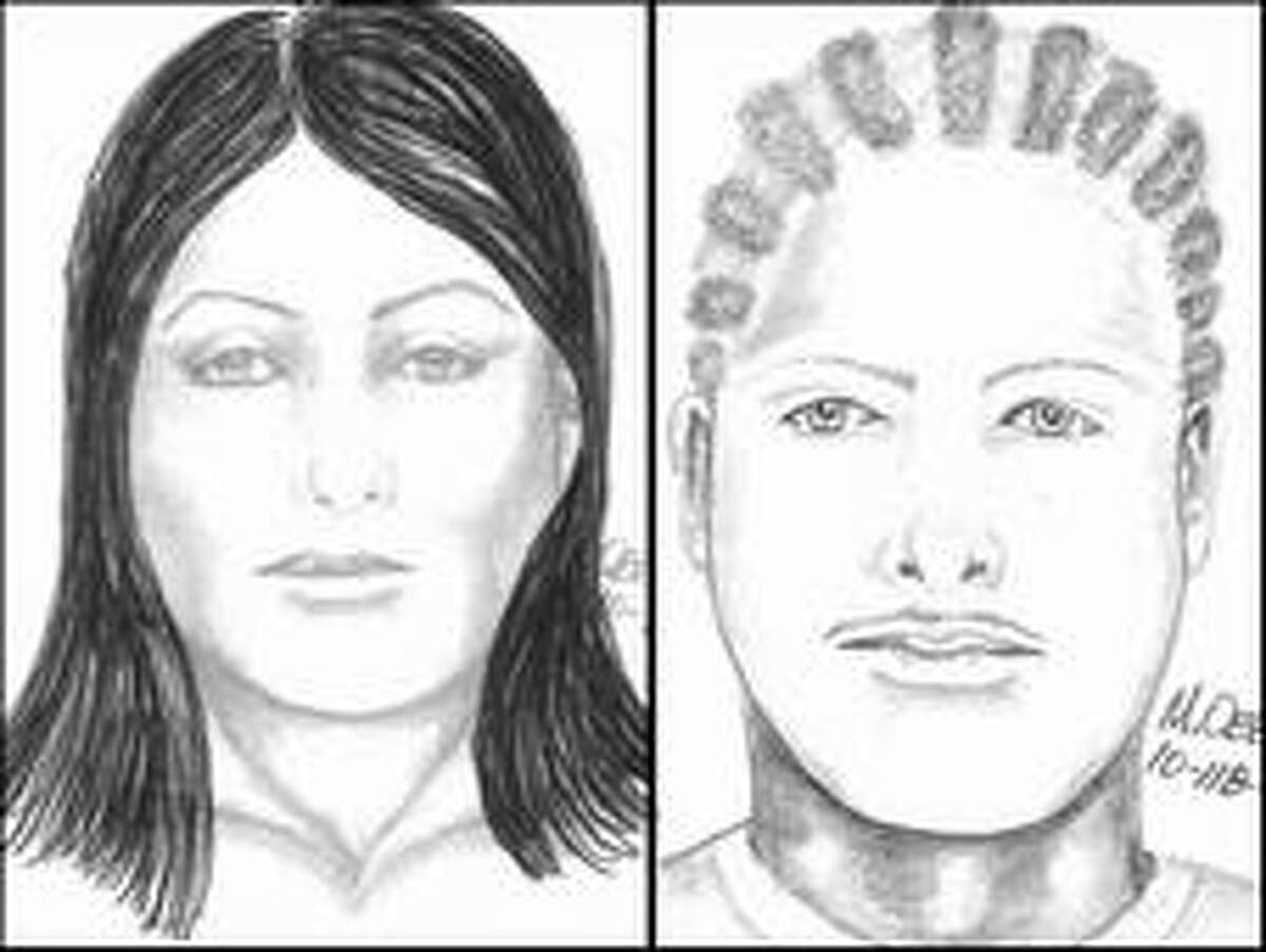 Investigators said the woman, pictured on left, may have a different hair style.