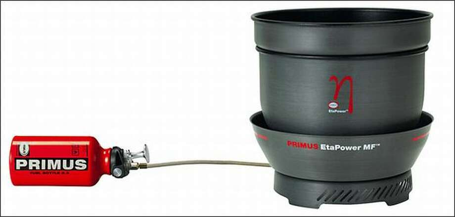 Primus EtaPower MF stove uses most of its heat for cooking, and carbon offsets are bought for each sold.