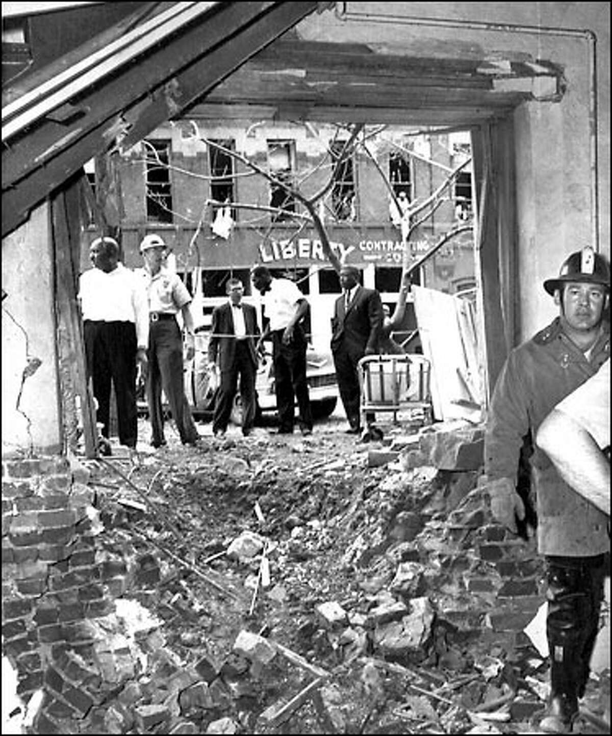 On Sept. 15, 1963, a bomb left this hole, and four dead girls, in the Sixteenth Street Baptist Church. Two men have now been convicted in the case.